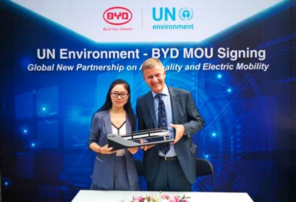 BYD apoya al Programa de las Naciones Unidas para el Medio Ambiente