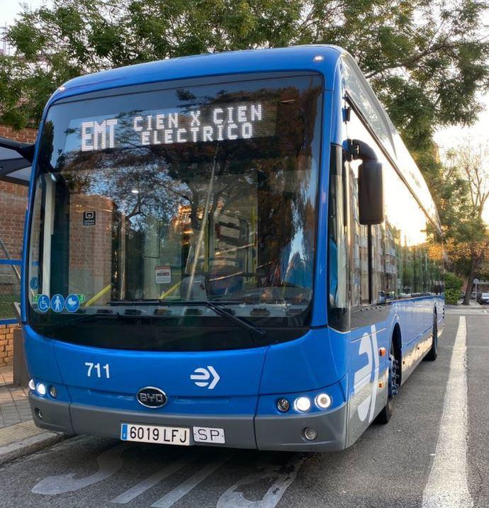 La línea 81 de EMT también se moverá solo con autobuses eléctricos