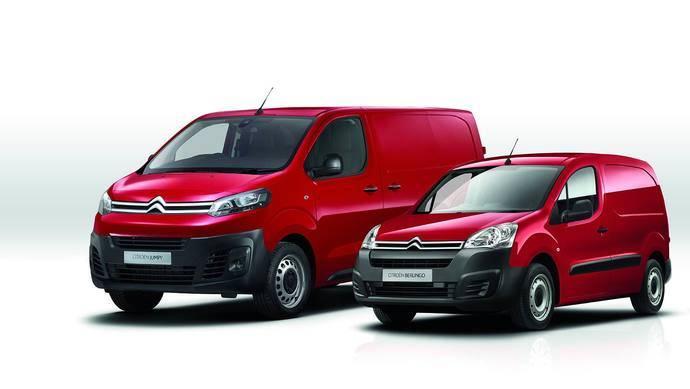Las furgonetas Citroën Berlingo y Citroën Jumpy.