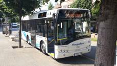 Uno de los autobuses incorporados a la línea