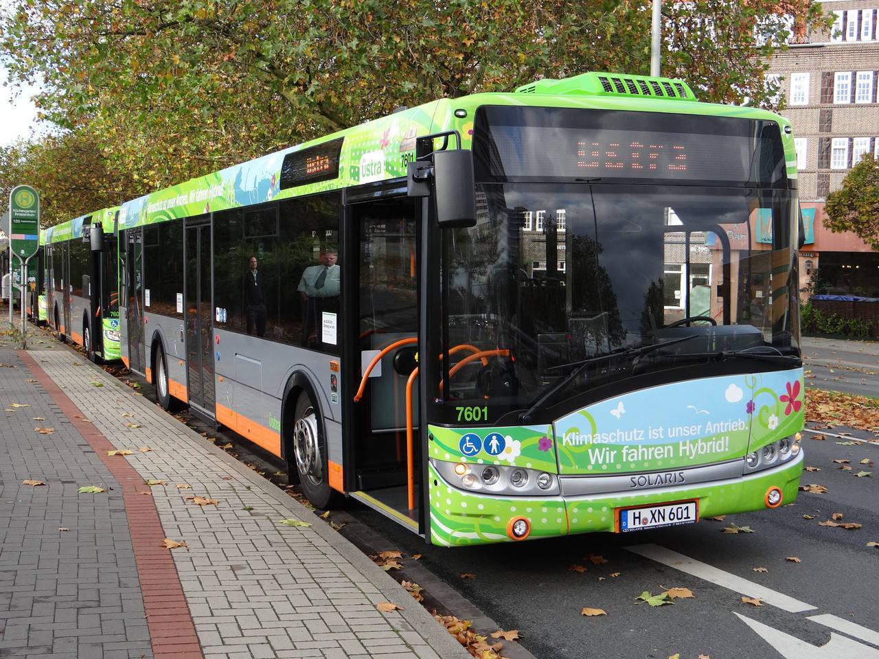 Los Solaris eléctricos llevan la era de la electromovilidad a Hannover