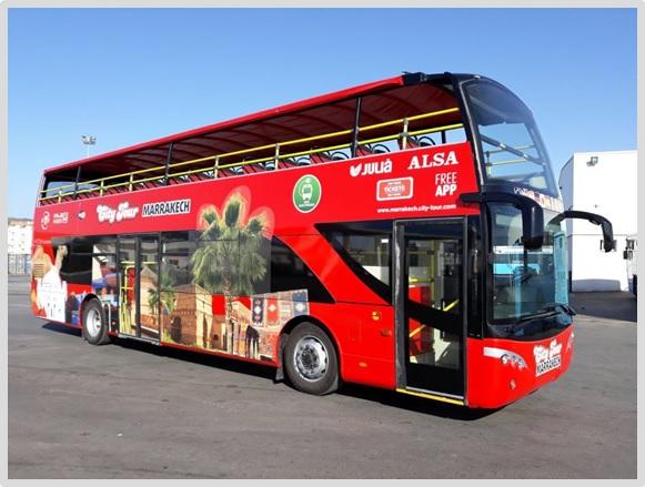 Alsa y Grupo Julià inauguran el bus turístico de Marrakech