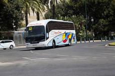 Autobús de Vázquez Olmedo en Málaga.