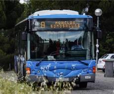 Uno de los autobuses de la EMT Madrid que cubre las líneas universitarias