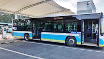 Una estación china consigue recargar 30 autobuses a la vez