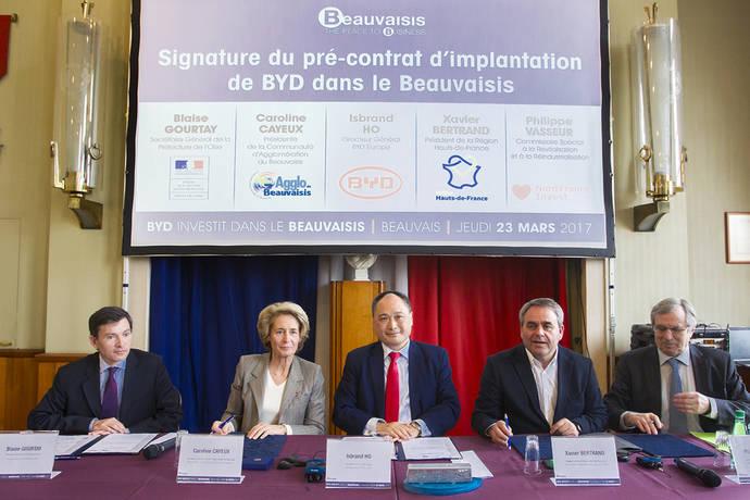 BYD invertirá 10 millones de euros en el montaje de autobuses eléctricos en Hauts-de-France