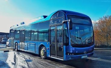 Primeros autobuses eléctricos de BYD France