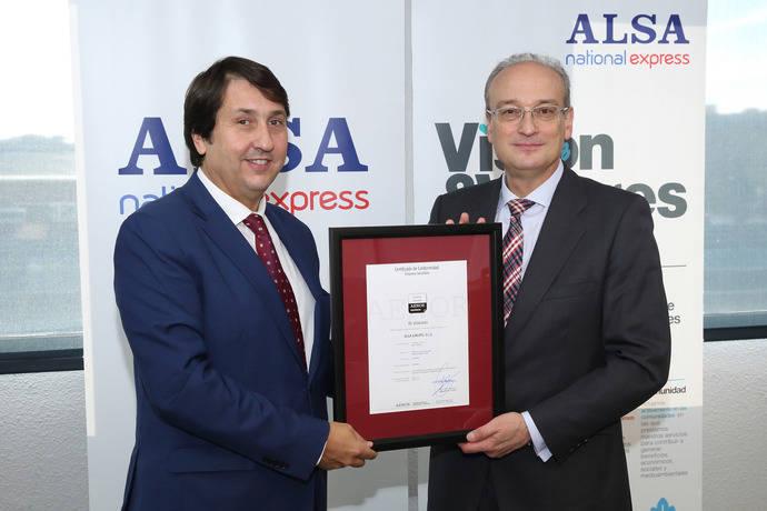 Alsa certificada como Empresa Saludable por Aenor