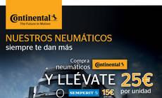 Continental bonifica la compra de neumáticos