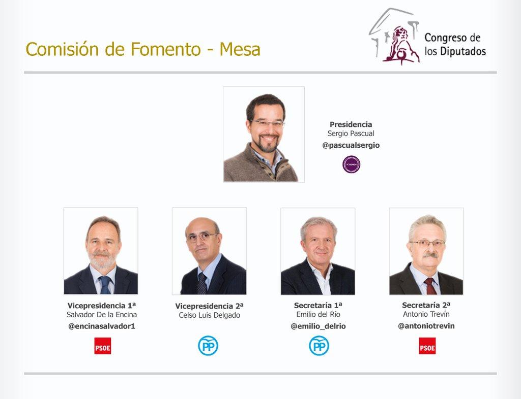 Formada la Comisión de Fomento para la XI Legislatura