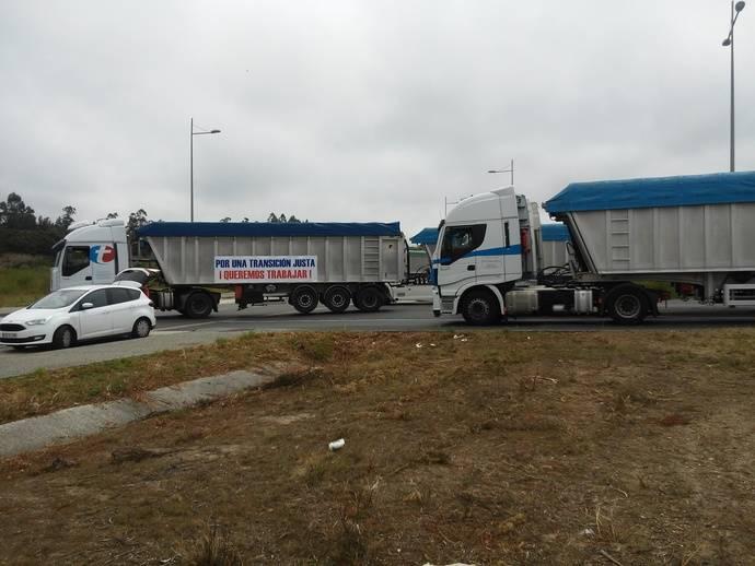 Los transportistas gallegos del carbón llegan a Madrid con sus demandas