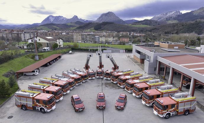 15 vehículos de bomberos de Vizcaya, equipados con Allison