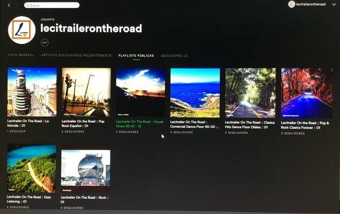 La compañía Lecitrailer on the road, nuevos canales de música en Spotify