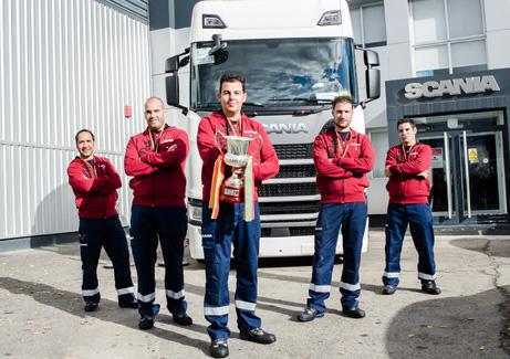 Scania celebra su competición de mecánicos