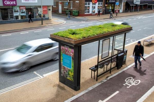 Leicester presenta marquesinas ecológicas para el cambio climático