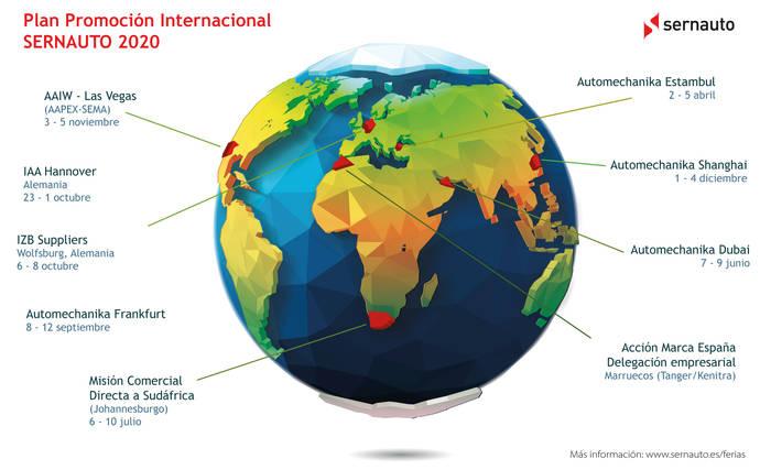 Sernauto lanza el Plan de Promoción Internacional 2020 para proveedores