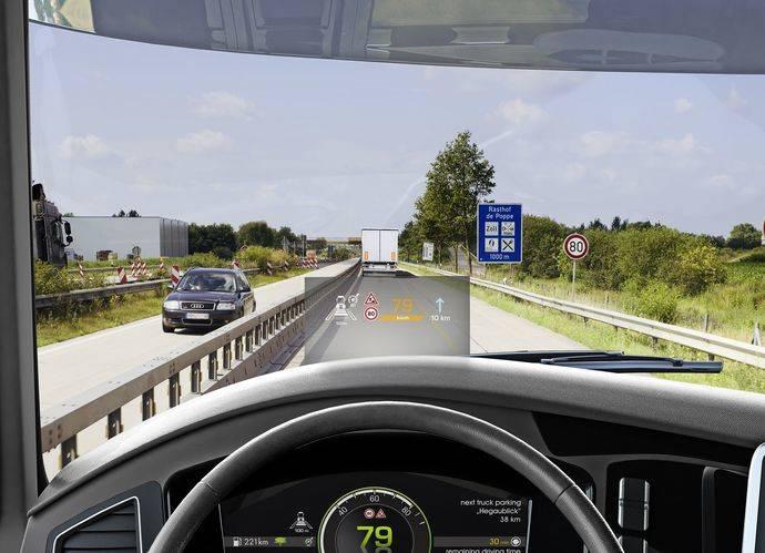 Continental presenta innovaciones, pantallas digitales de visualización frontal
