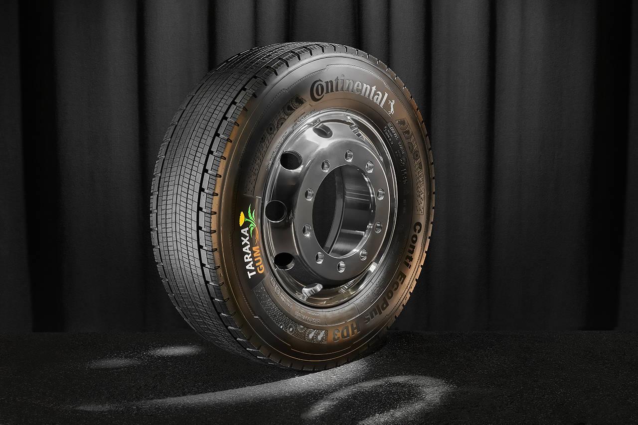 Diente de león en los neumáticos Continental de vehículos comerciales