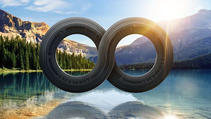Continental: botellas de plástico recicladas para neumáticos a partir de 2022