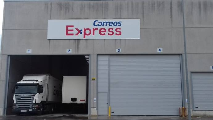 Nuevo centro logístico de Correos Express en San Sebastián.