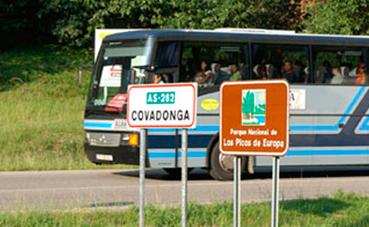 8.000 personas utilizaron el transporte a los lagos de Covadonga en Semana Santa