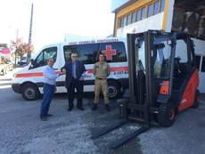 Linde Material colabora con la Cruz Roja Portuguesa