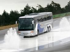 Uno de los autobuses de Daimler.