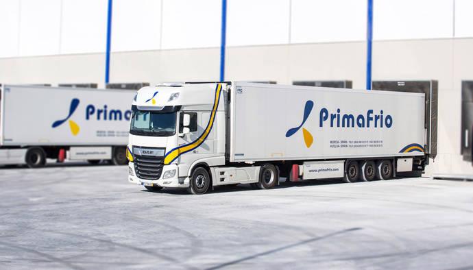 Uno de los nuevos camiones DAF de Primafrio.