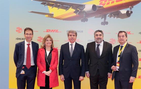 Ángel Garrido inaugura el nuevo 'hub' de DHL en el aeropuerto de Barajas