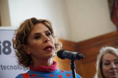 Ágatha Ruiz de la Prada durante su intervención.