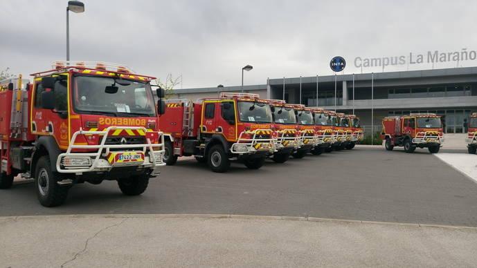 Bomberos de la Comunidad de Madrid reciben sus 22 nuevos camiones Renault Trucks D 4x4