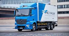 El primer camión 100% eléctrico rueda con Dachser y Mercedes-Benz