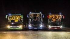 Los autobuses Mercedes aumentan la seguridad activa con tecnología de iluminación innovadora.