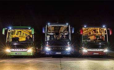 Los buses Mercedes incorporan leds que alcanzan 150 metros