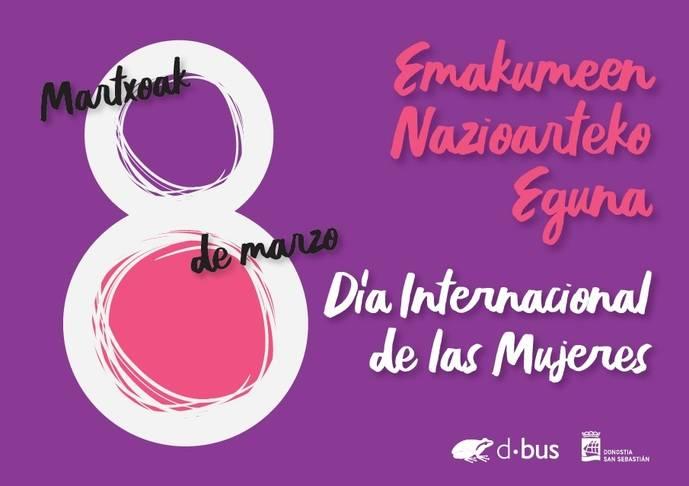Dbus se suma con carteles, al día internacional de las mujeres