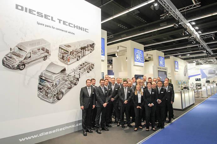 Stand de Diesel Technic en Automechanika Frankfurt.