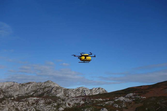 CORREOS inicia las pruebas con drones, para facilitar el servicio