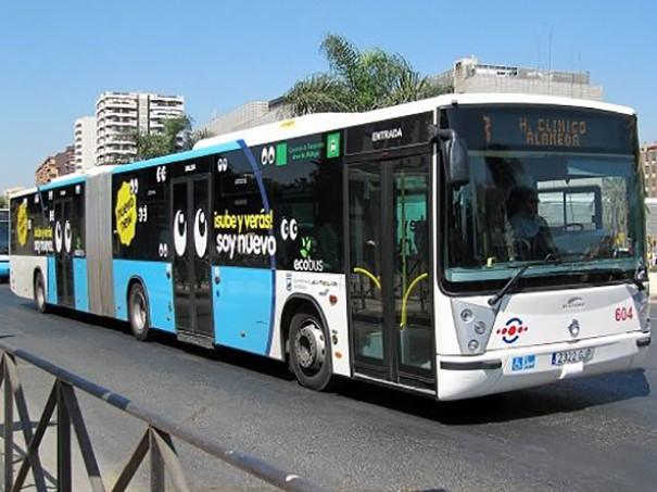 Un autobús urbano de la ciudad de Málaga.