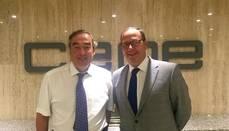 Momento del encuentro entre los representantes de la CEOE y Astic
