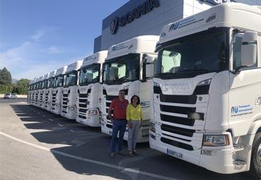 Aupatrans incorpora a su flota de vehículos 14 nuevos Scania S450