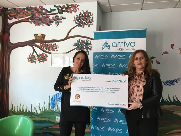 Arriva Galicia dona 10.000 euros a la Fundación Andrea