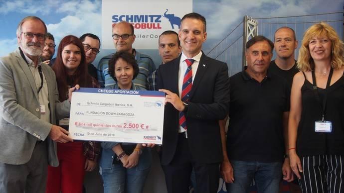 Schmitz Cargobull dona 2.500 euros a la fundación Down Zaragoza