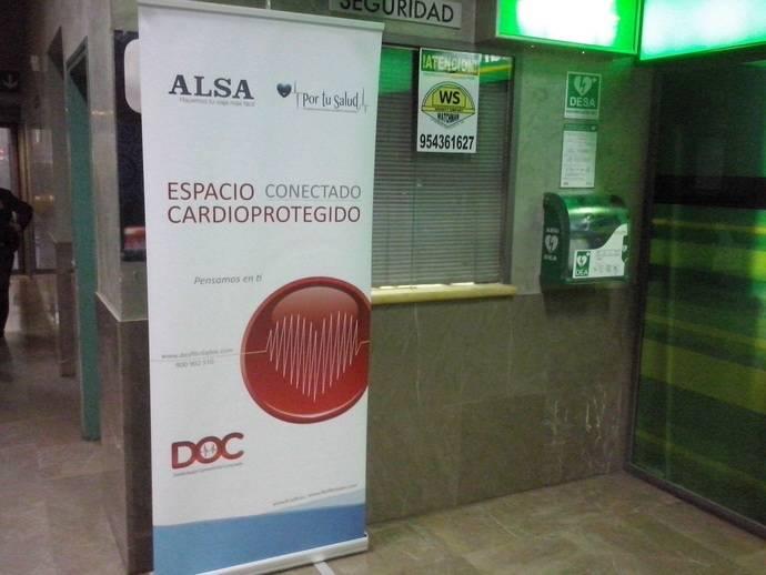 El desfibrilador de la estación de Córdoba salva una vida