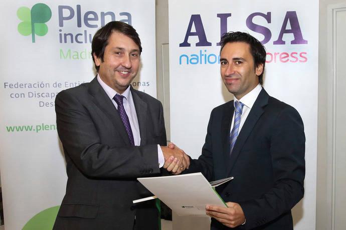 Alsa y Plena Inclusión Madrid firman un acuerdo