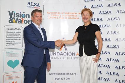 Alsa se asocia con asociación de víctimas de tráfico
