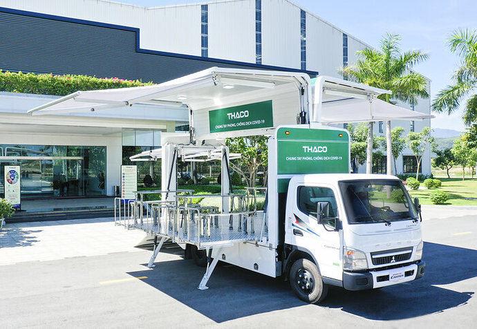 FUSO dona 126 camiones Canter a la campaña vacunación de Vietnam