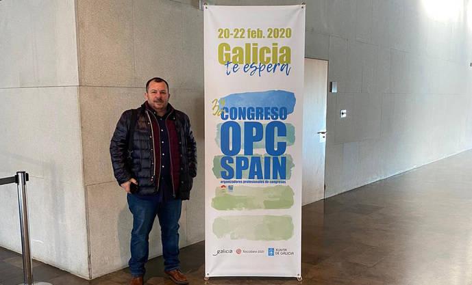 Fidel Martínez, gerente de la sede de Autos González en Vigo, en el Congreso OPC Spain.