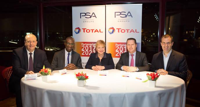 El Grupo PSA y Total renuevan su histórica colaboración