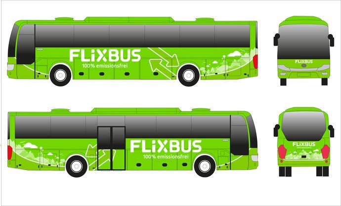 FlixBus lanza la primera línea de larga distancia con autocar eléctrico del mundo