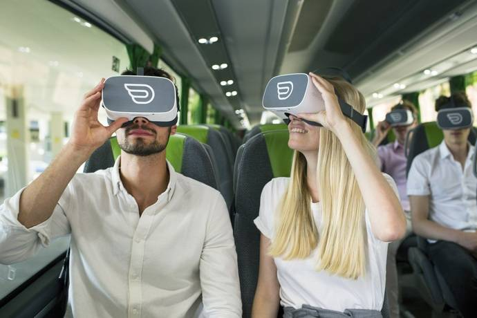Llega la realidad virtual a los autocares Flixbus de la ruta entre Barcelona y Lyon